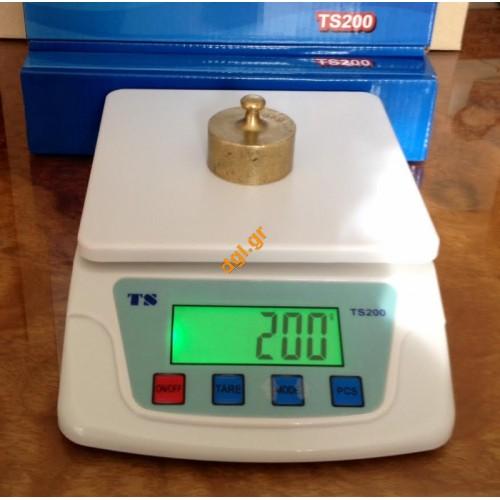 Ζυγαριά ακριβείας ηλεκτρονική ψηφιακή 10kg/1gr TS-200