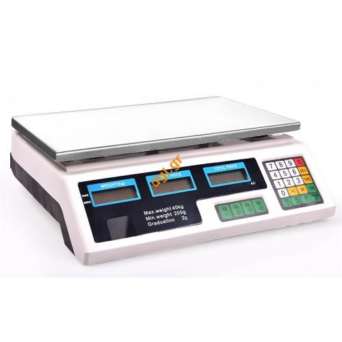 Ζυγαριά ηλεκτρονική D 40-2 ( 2gr/40kg)