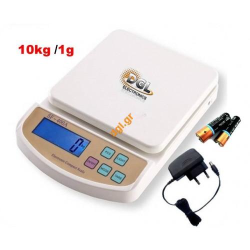 ηλεκτρονική ζυγαρια ακριβείας εως 10kg/1g SF400A